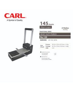 CARL Punch Heavy Duty - 2/4 Holes (145 sheets) 120
