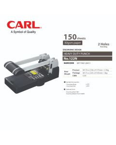 CARL Punch Heavy Duty - 2 Holes (150 sheets) 122N
