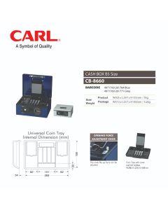 "CASH BOX 12""(305MM) - KEY LOCK W/PASSWORD DIAL CB-8660"