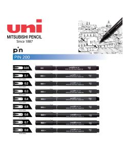 Uni Pin Fine Line Drawing Pen 0.05mm-0.8mm PIN-200 1pc