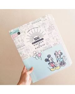 Sun-star Disney Clear File 6 Pockets + Fastener Pocket A4 Mickey & Minnie