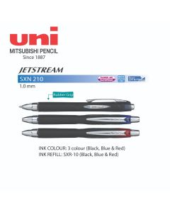 Uni JETSTREAM Roller Ball Retractable Pen 1.0mm SXN 210