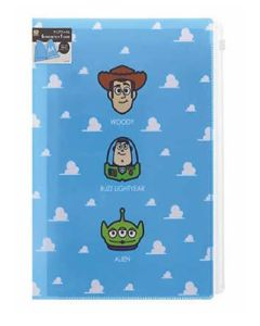 Sun-star Disney Clear File 6 Pockets + Fastener Pocket A4 Toy Story + Pooh