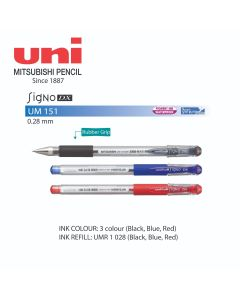 Uni-ball Signo DX Gel Roller Pen 0.28mm UM 151 28