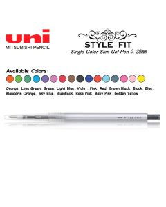 Uni Style Fit 1 Color Gel Pen 0.28mm UMN-139 (Series B)